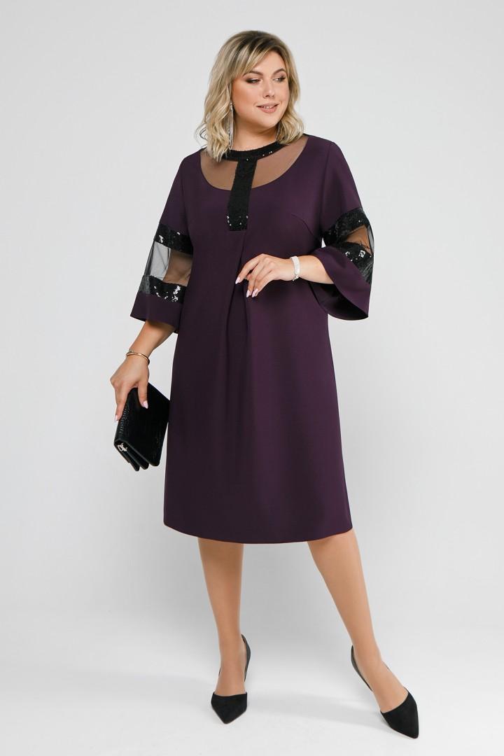 Платье Pretty 1204 баклажан
