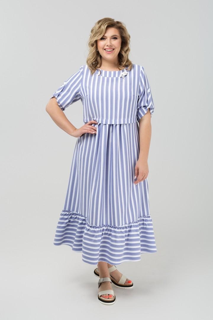 Платье Pretty 1981 голубой+белый