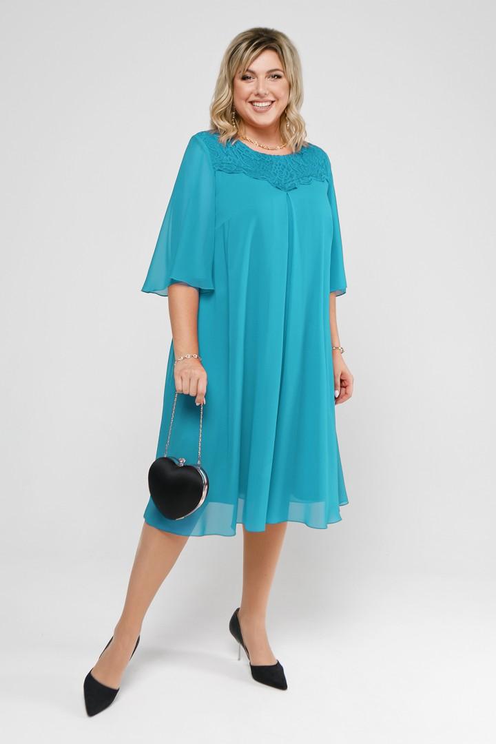 Платье Pretty 2046 морская волна