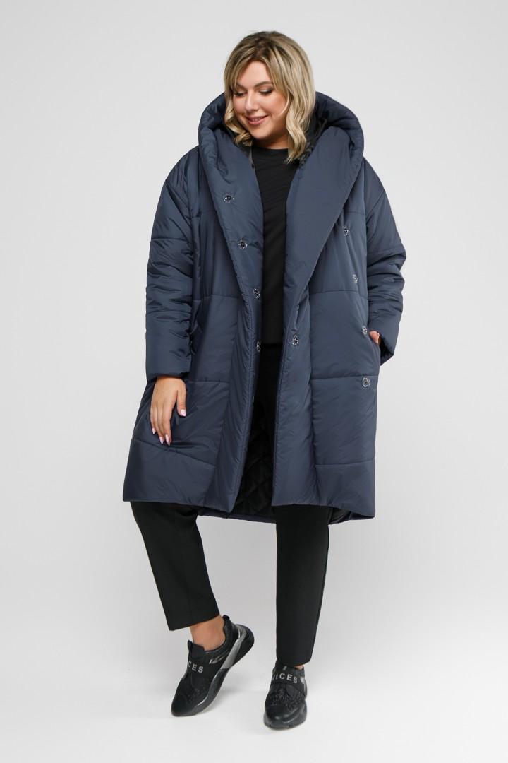 Пальто Pretty 2048 темно-синий