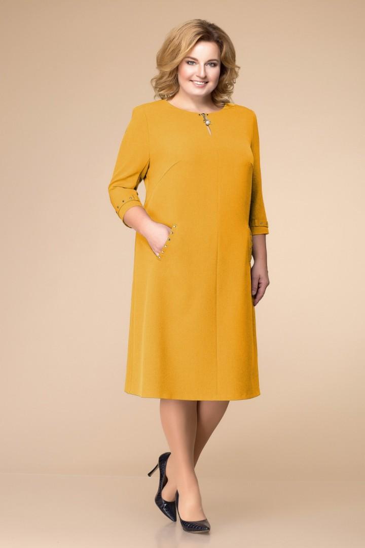 Платье Romanovich Style 1-1729.05  горчица