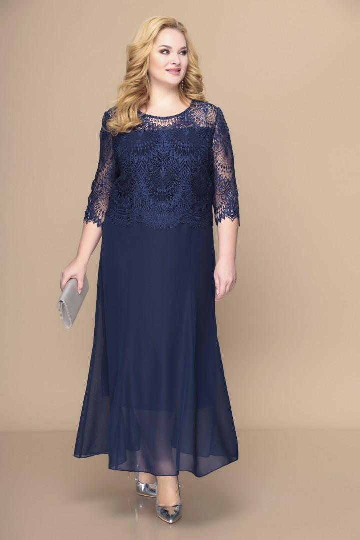Платье Romanovich Style 1-1789 темно-синий
