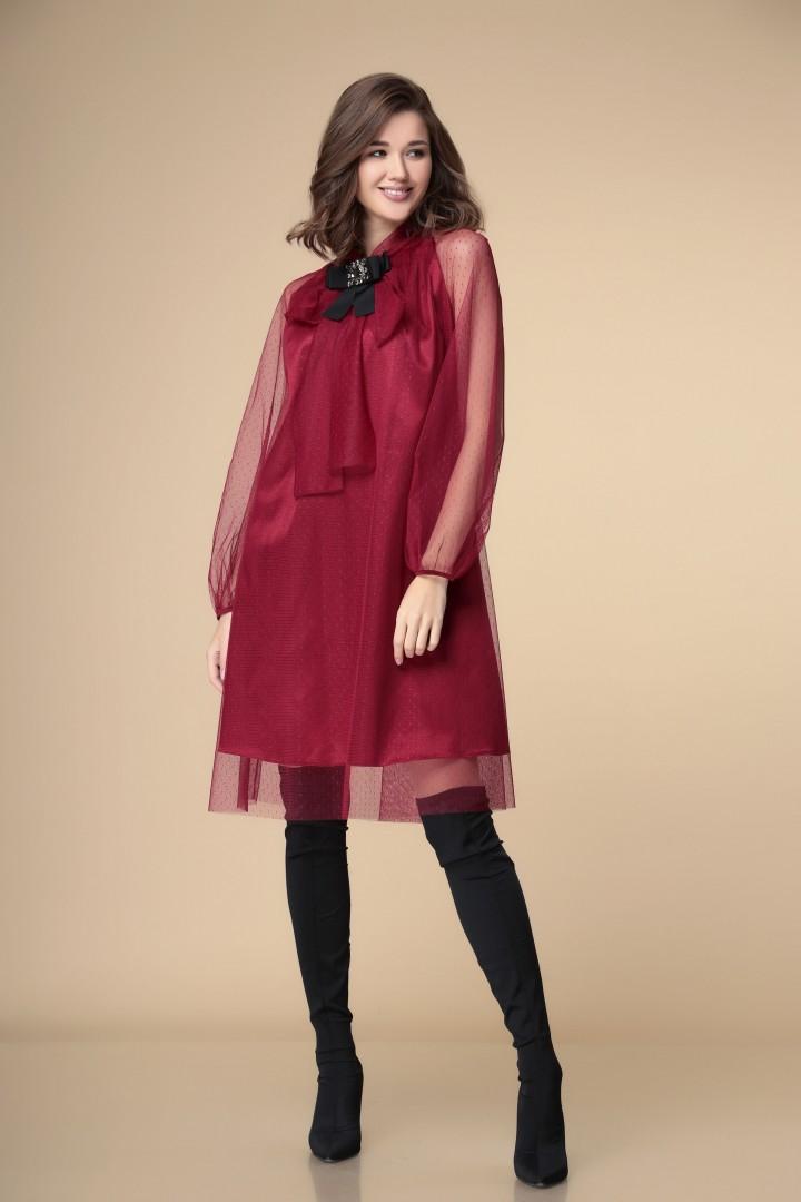 Платье Romanovich Style 1-1913 бордо