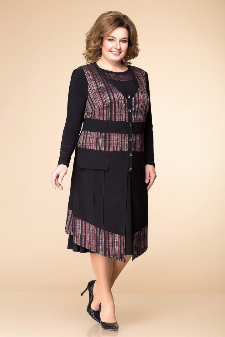Костюм Romanovich Style 3-1261 чёрный с бордо