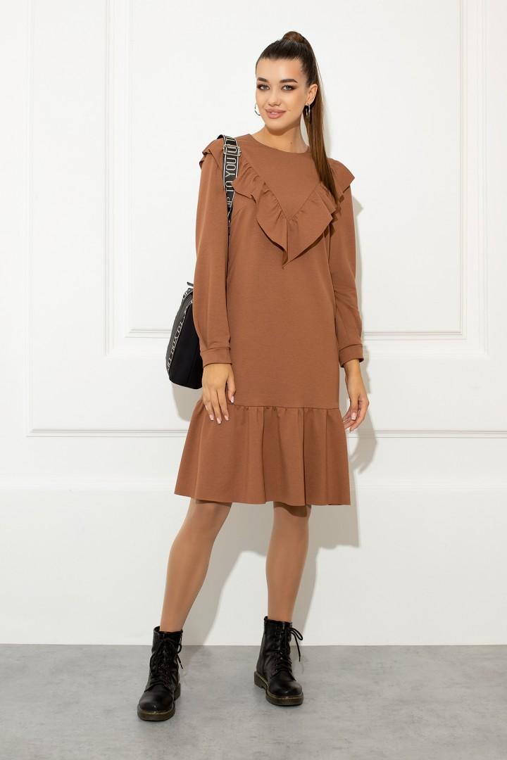 Платье Samnari Т-139 карамельный