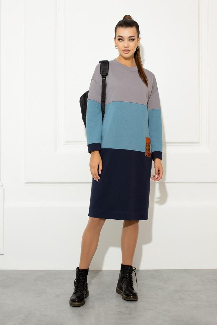 Платье Samnari Т-143 синий