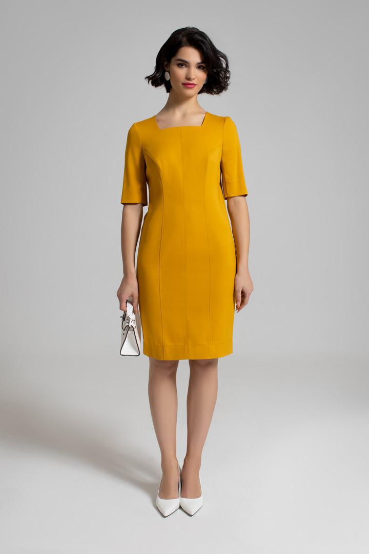 Платье Samnari Т-145 горчица