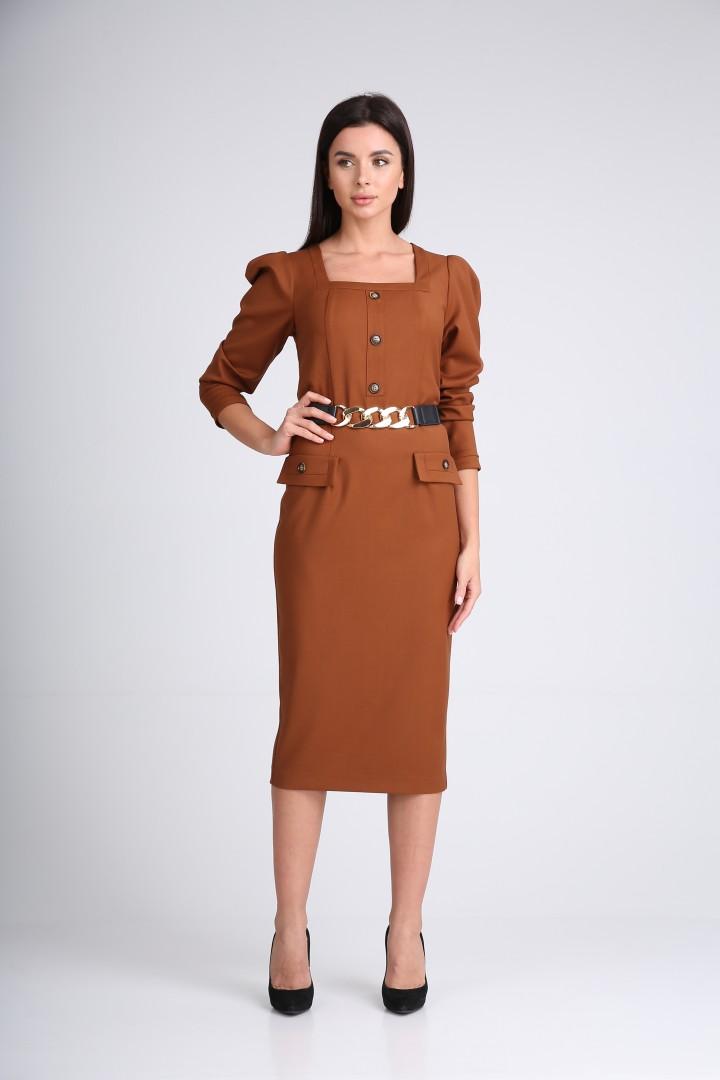 Платье SandyNa 130115 орехово-коричневый
