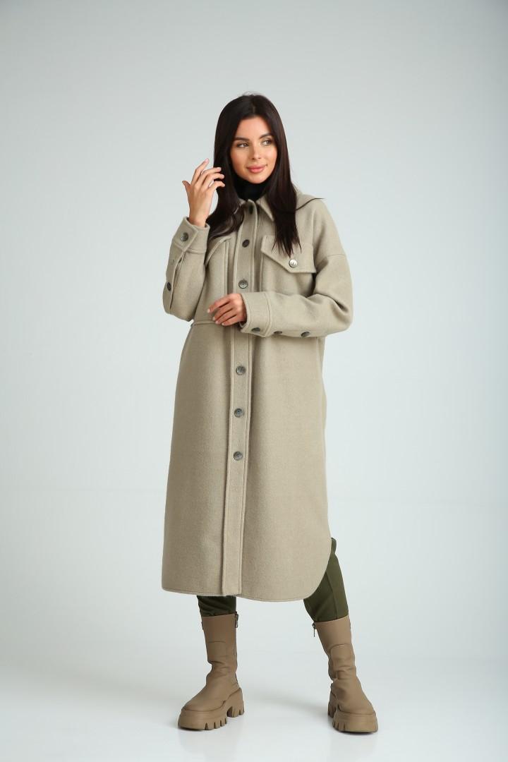 Пальто SandyNa 130601 оливковый