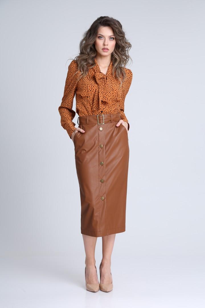 Юбка SandyNa 13941 коричневый