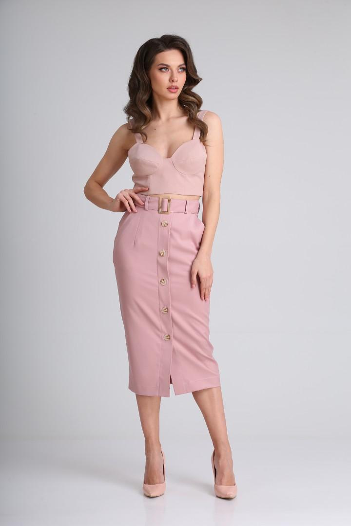 Юбка SandyNa 13967 нежно-розовый