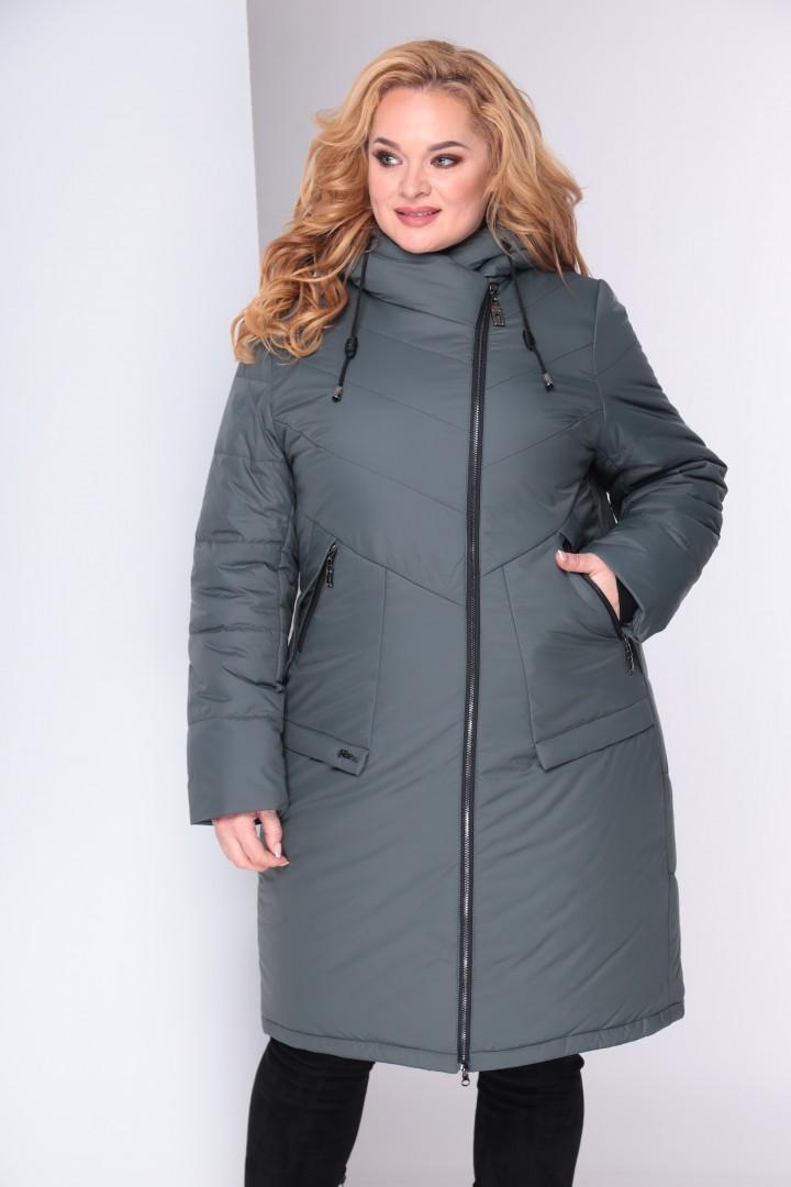 Пальто Shetti 2024 темная олива
