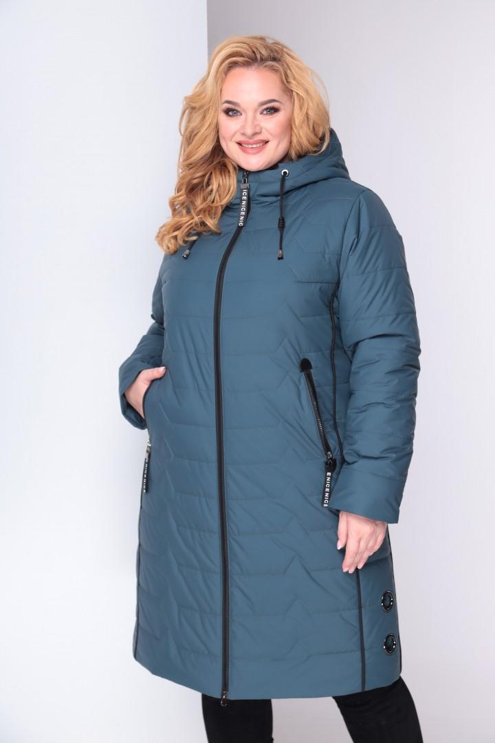 Пальто Shetti 2027 светлый изумруд