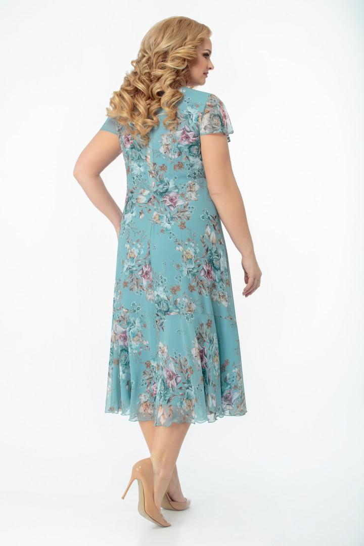 Платье СлавияЭлит 428 бирюзово-голубой