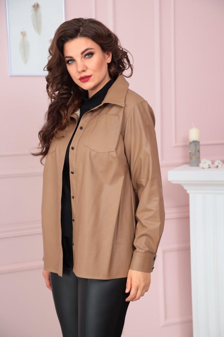 Блузка Solomea Lux 858-1 коричневый