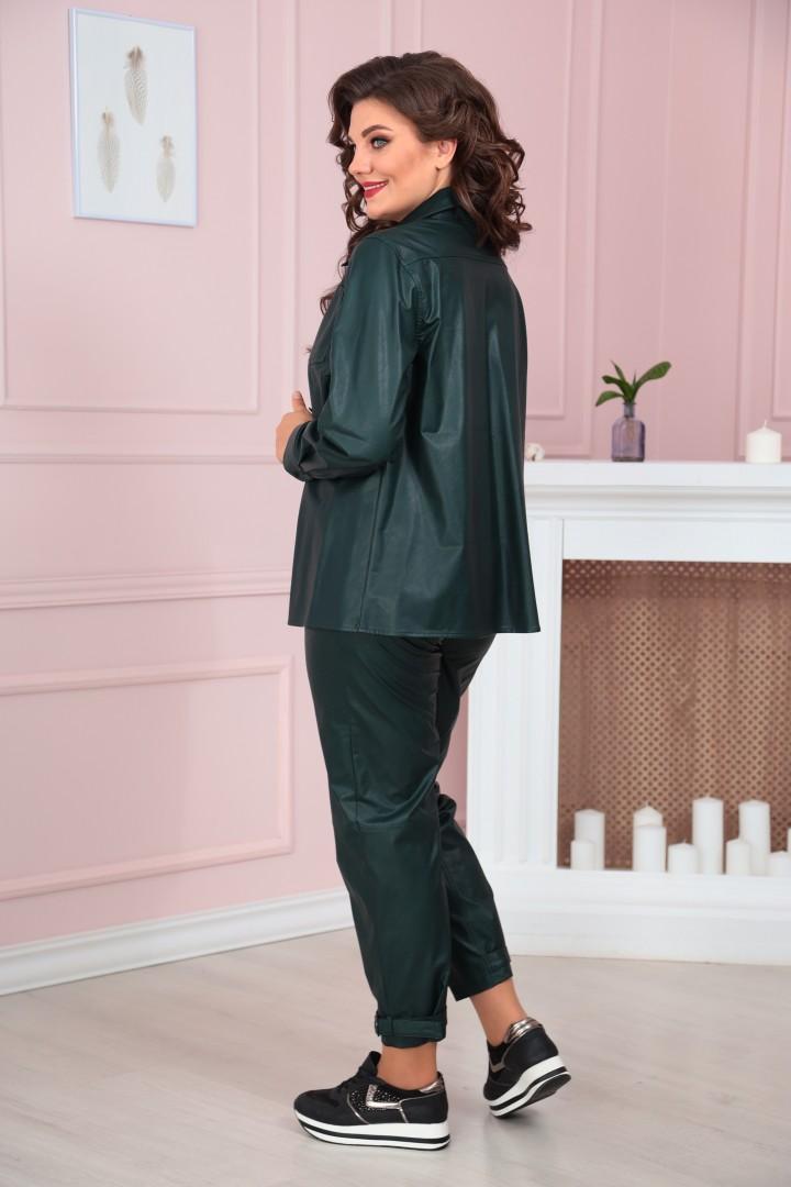 Блузка Solomea Lux 858 темно-зеленый