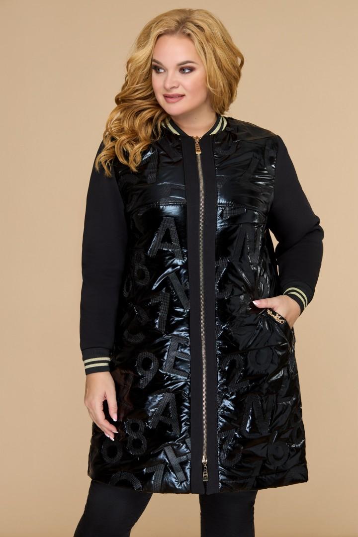 Куртка Светлана-Стиль 1449 черный+буквы