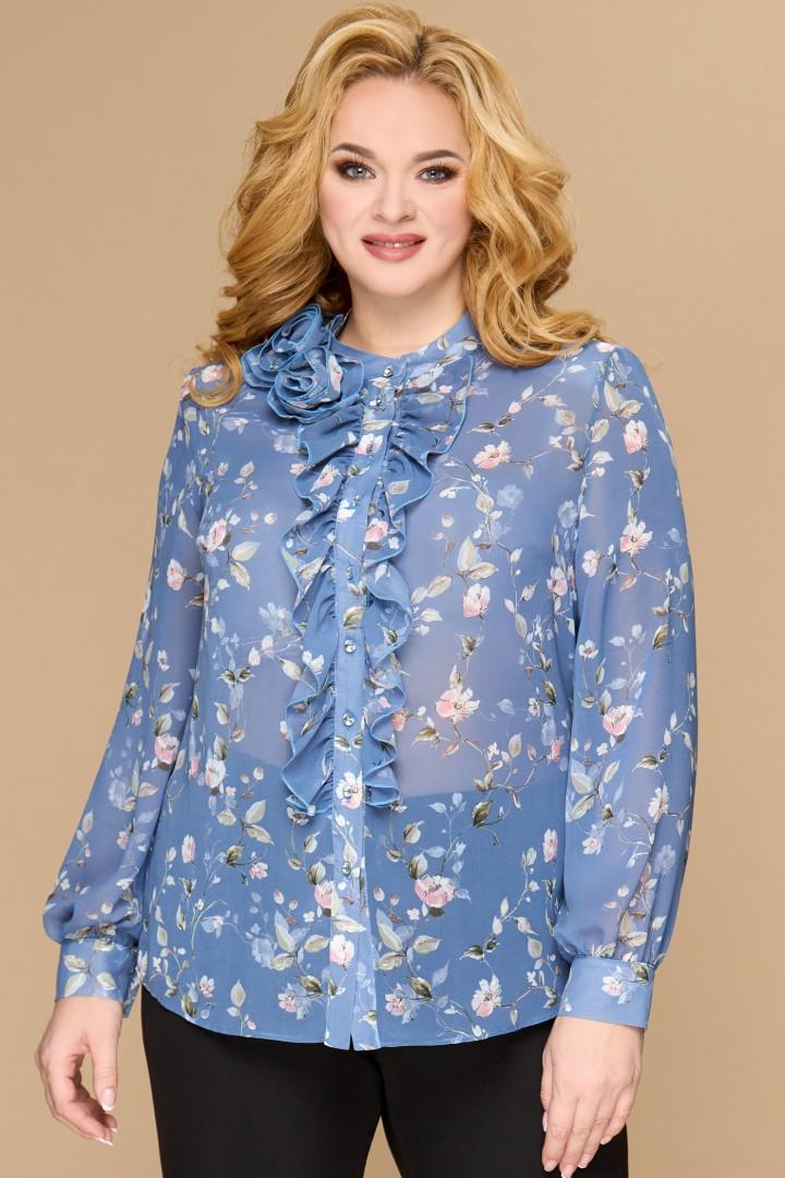 Блузка Светлана-Стиль 1594 голубой