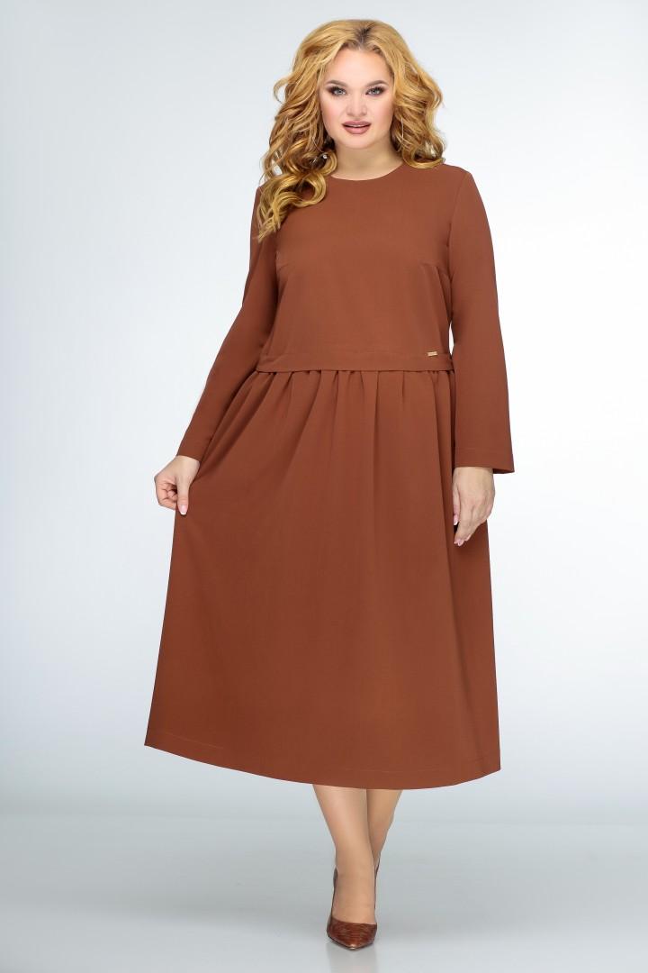 Платье Swallow 407 терракот