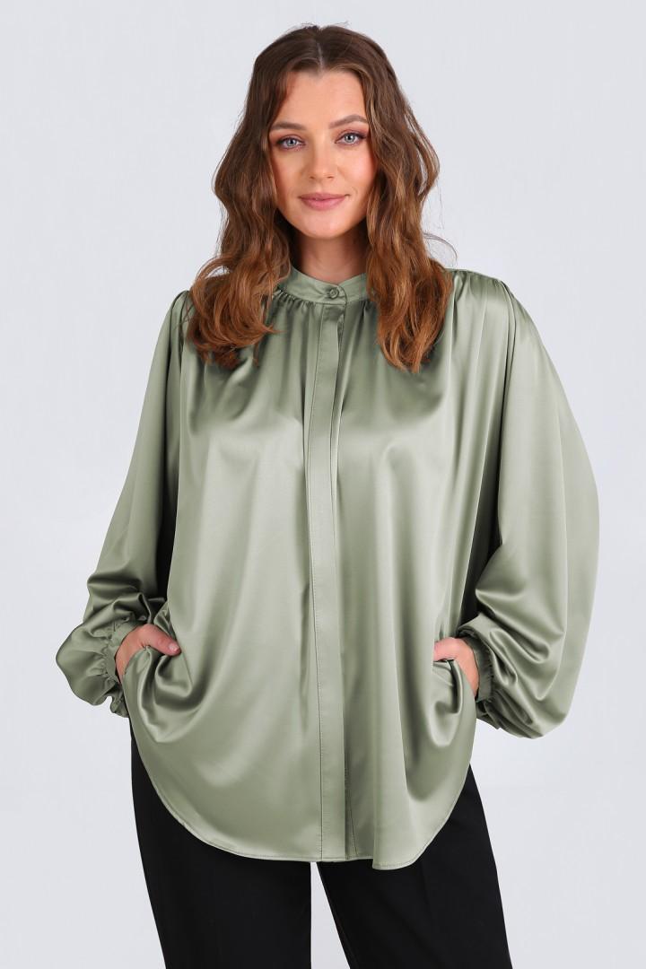 Блузка Таир-Гранд 62366 оливковый