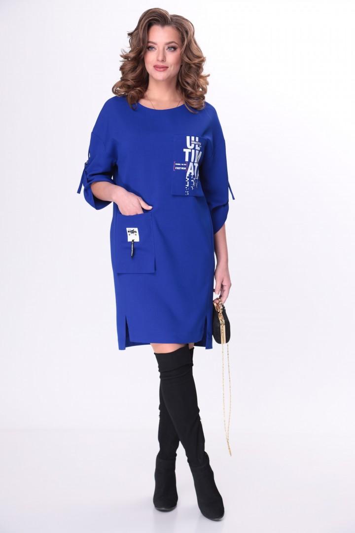 Платье TAITA PLUS 2133/10 ультрамарин