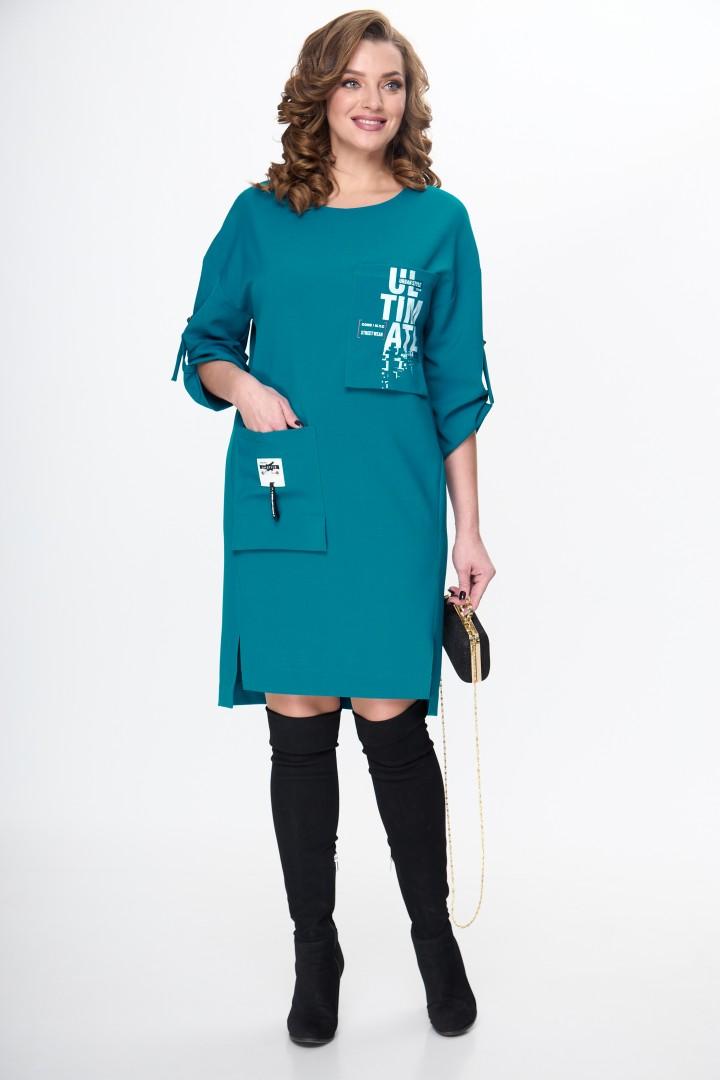 Платье TAITA PLUS 2133/12 бирюза