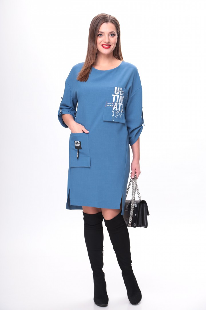Платье TAITA PLUS 2133/9 индиго