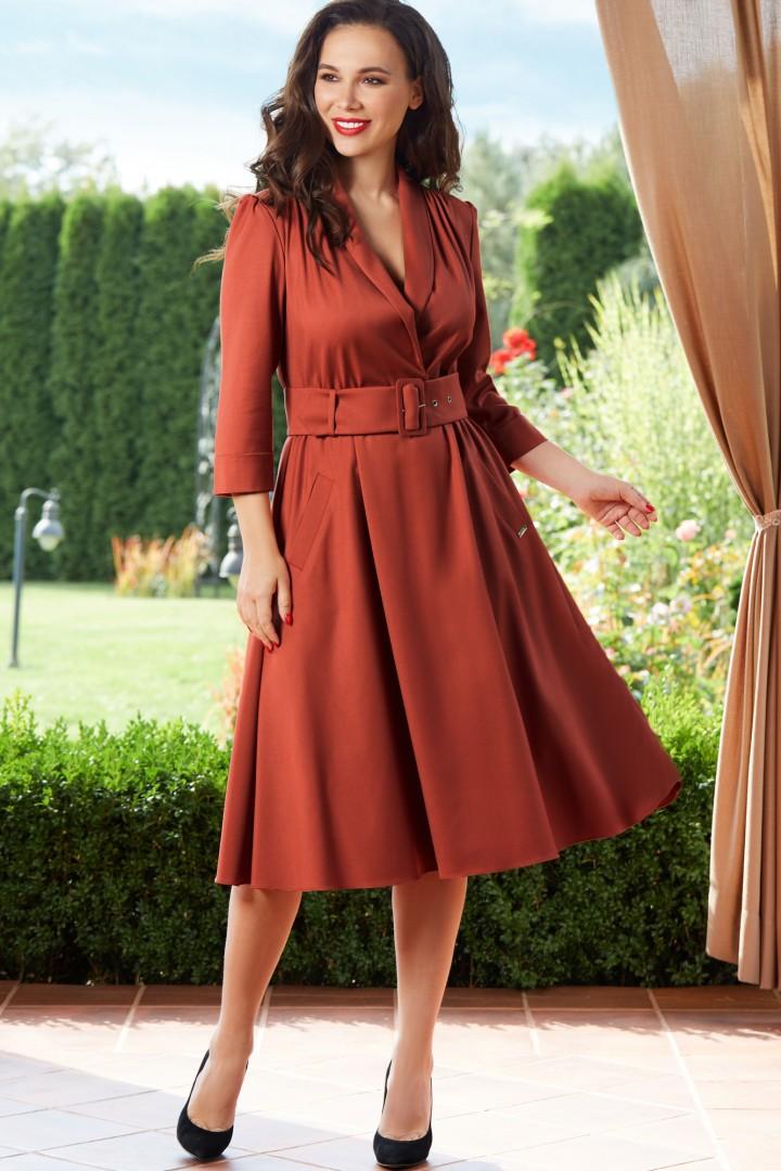 Платье ТЭФФИ-стиль 1446 терракот