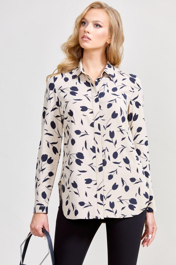 Блузка ТЭФФИ-стиль 1596 бежевый