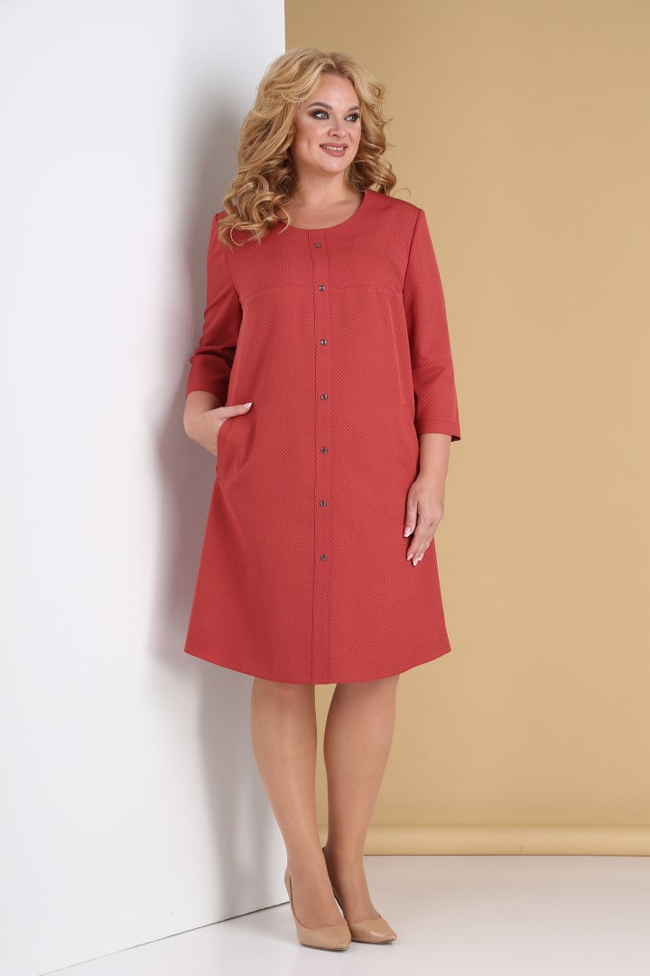 Платье Тэнси 311  коралловый