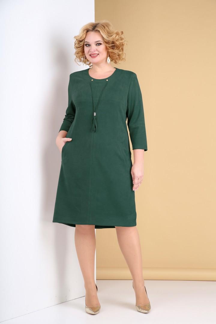 Платье Тэнси 318 изумрудный