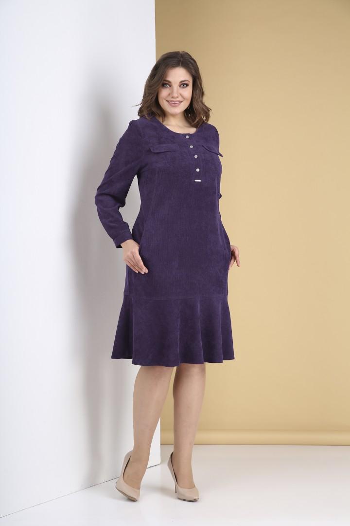 Платье Тэнси 319 ежевика
