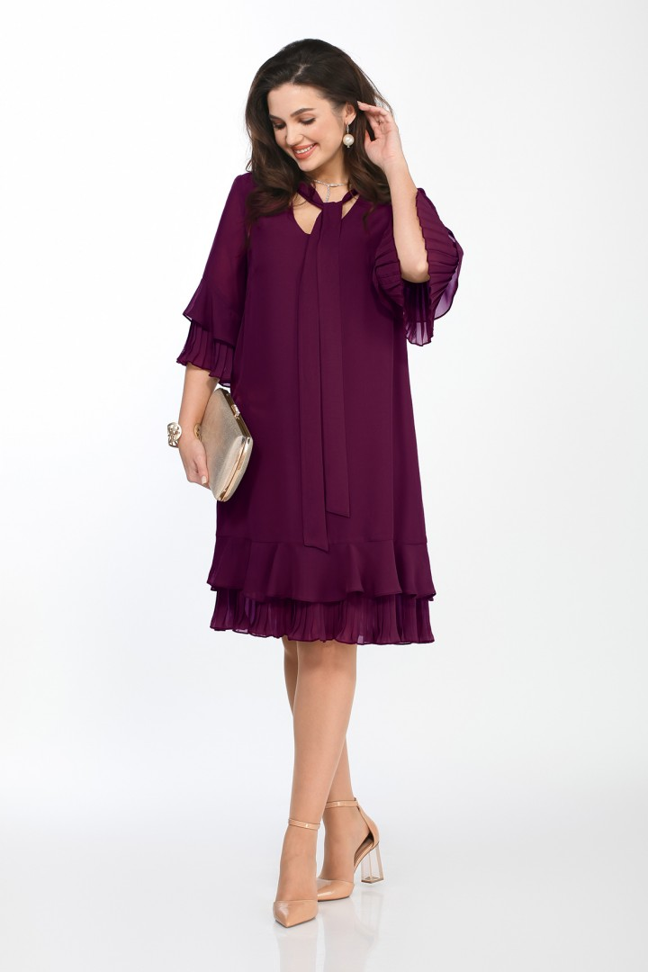Платье TEZA 2019 фиолетовый