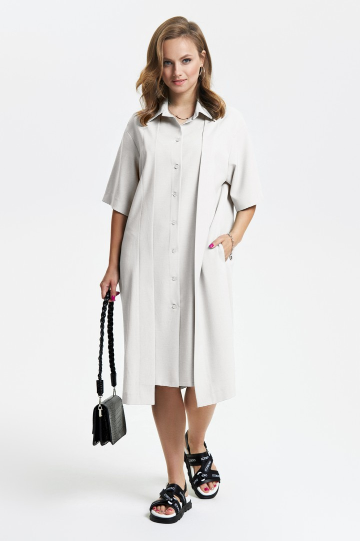 Платье TEZA 2648 серо-бежевый