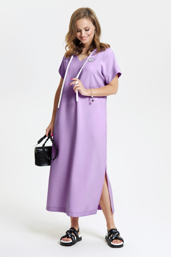 Платье TEZA 2664  темно-лавандовый