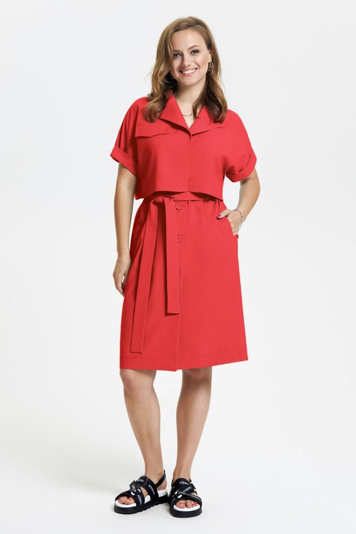 Платье TEZA 2665 красный
