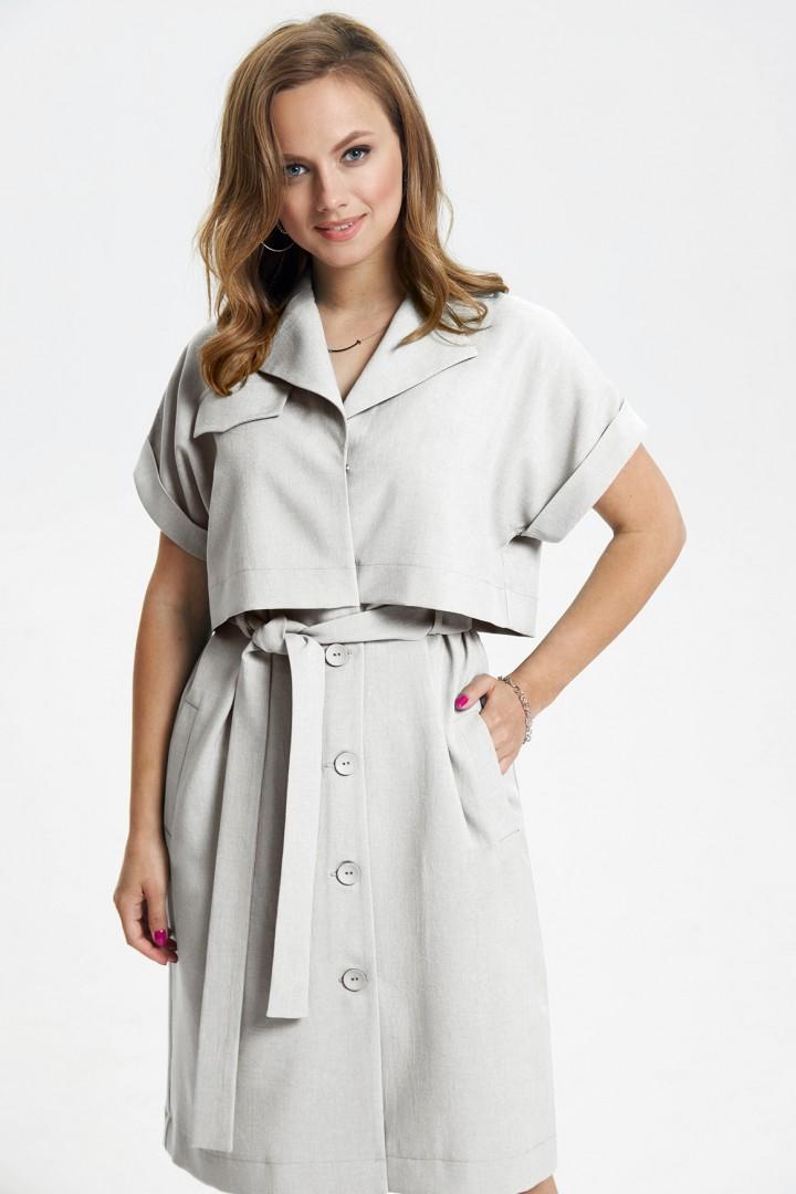 Платье TEZA 2665 серо-бежевый