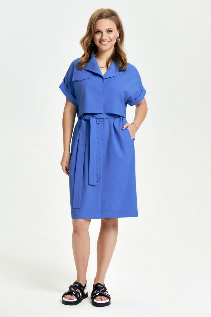 Платье TEZA 2665 василек