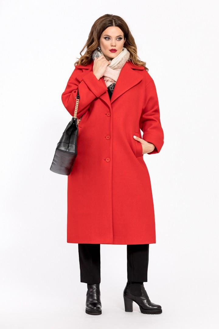 Пальто TEZA 267 красный