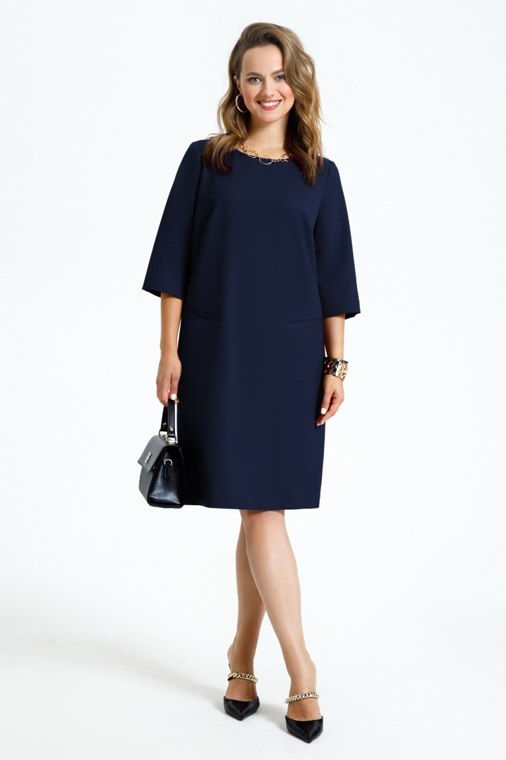 Платье TEZA 2946 темно-синий