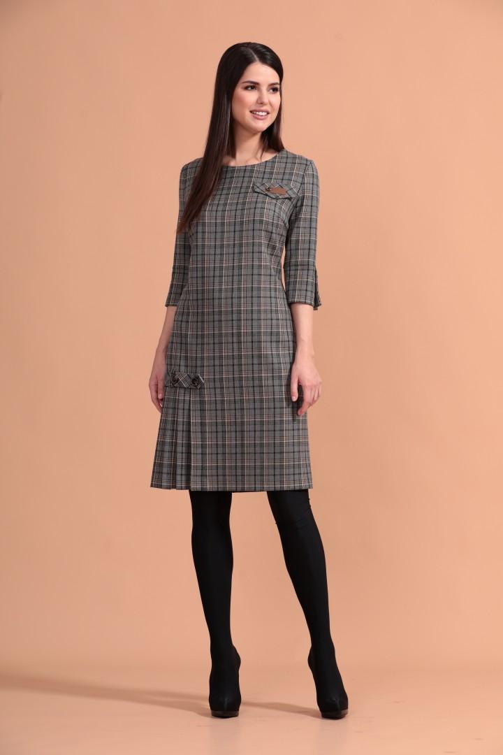 Платье Твой Имидж 1143 серый