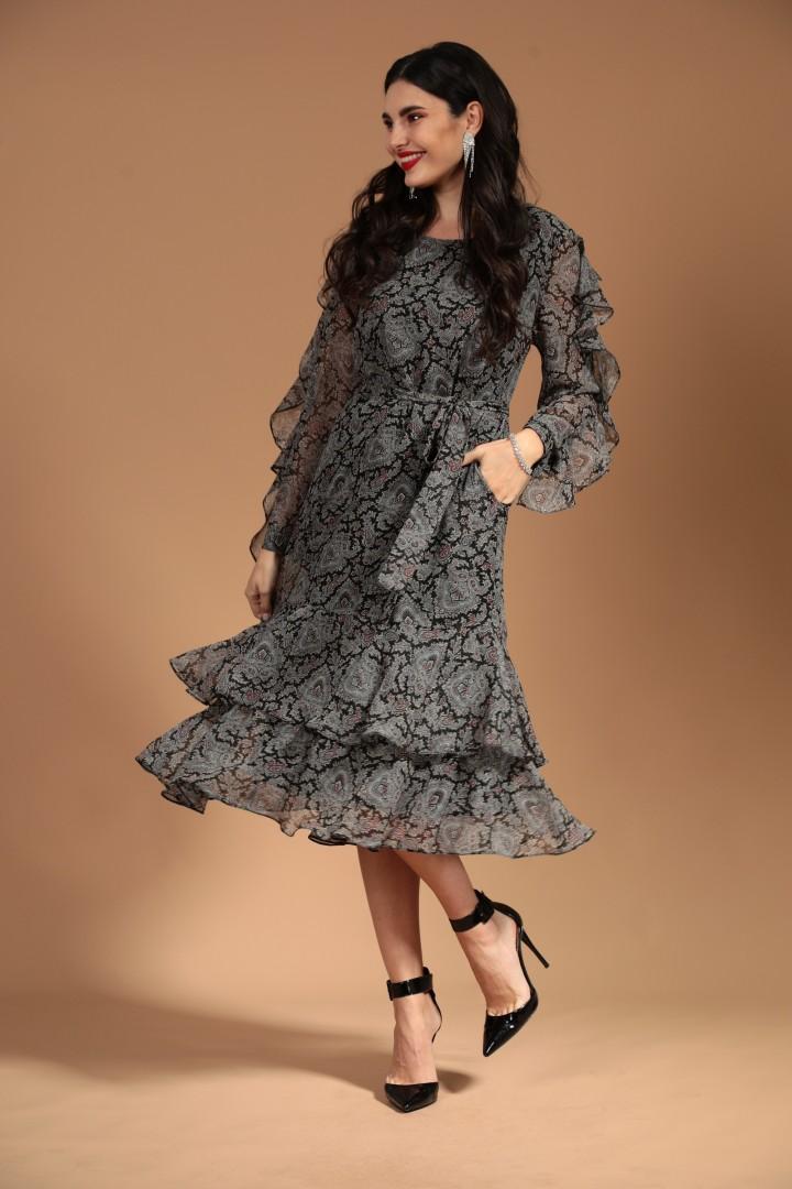 Платье Твой Имидж 1441 серый