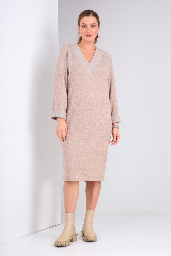 Платье Viola Style 0982 бежевый
