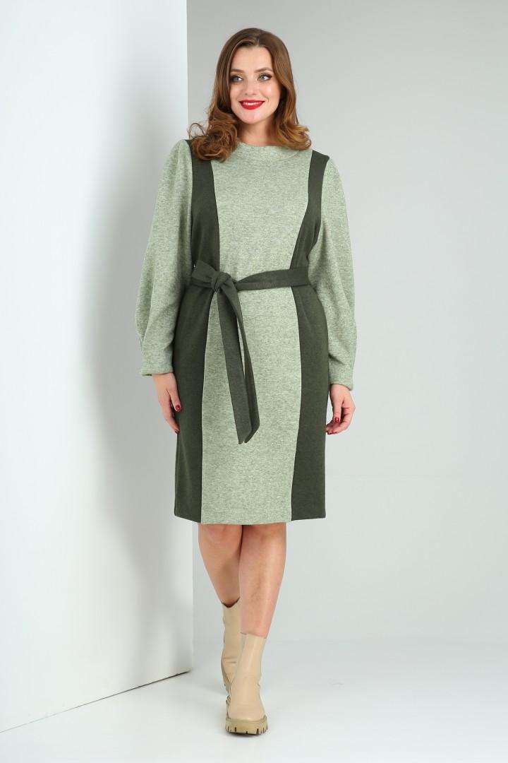 Платье Viola Style 0986 зеленый