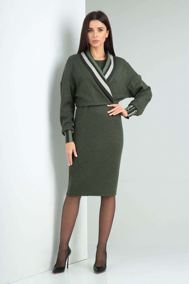 Костюм Viola Style 5493 темно-зеленый