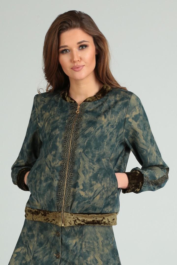 Куртка Viola Style 6029 зеленый