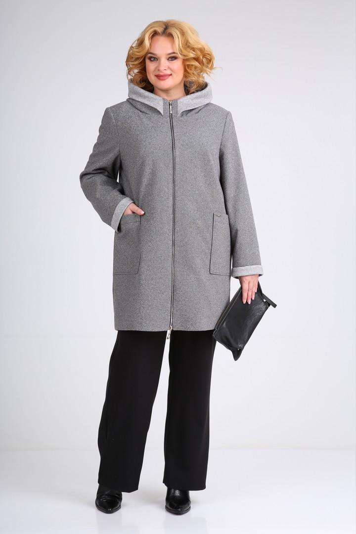 Полупальто Viola Style 6043 серый меланж