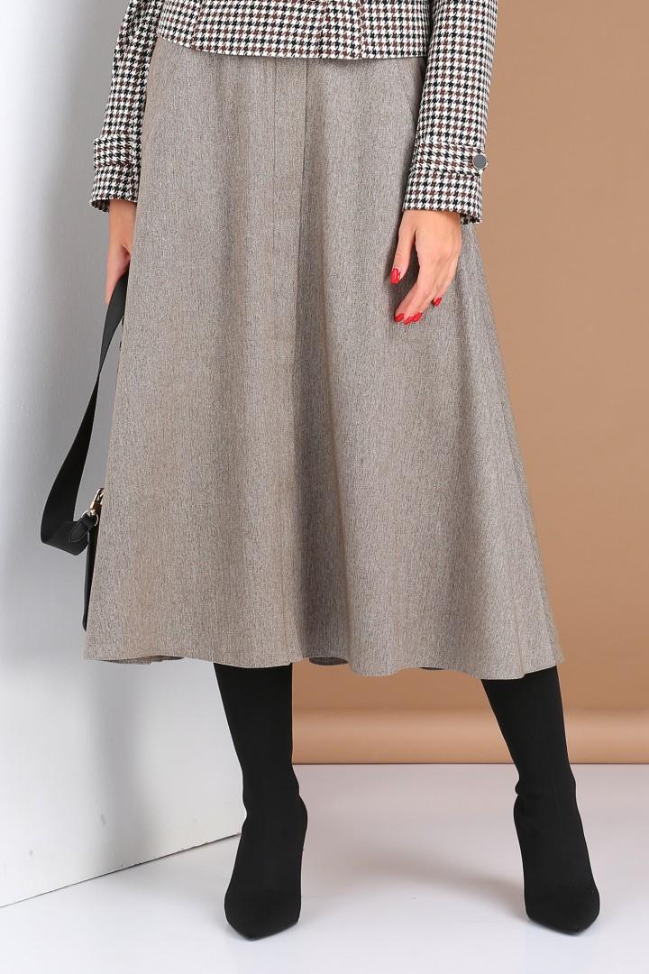 Юбка Viola Style 8109 серый меланж
