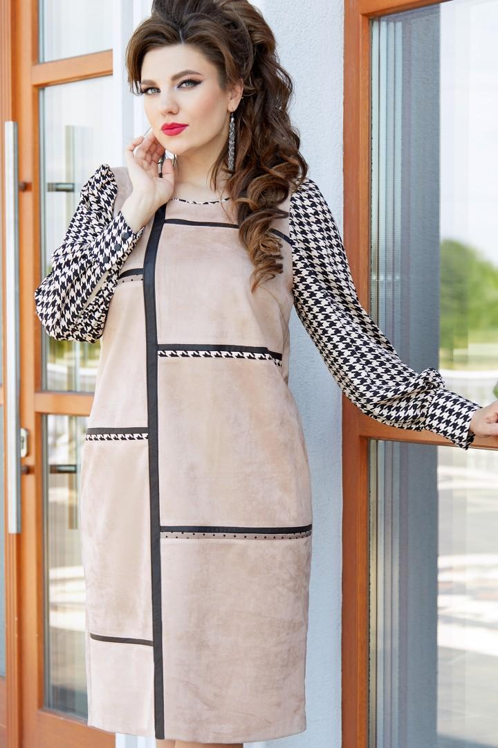 Платье Vittoria Queen 14613 черный/беж