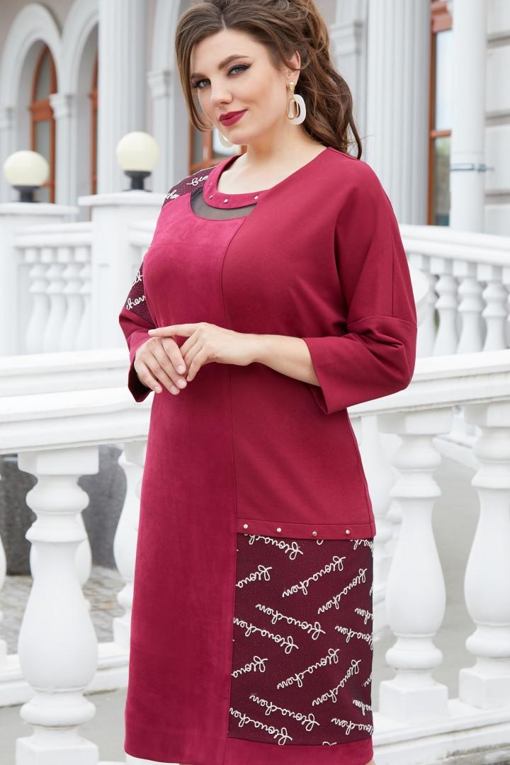 Платье Vittoria Queen 14753 замш бордо